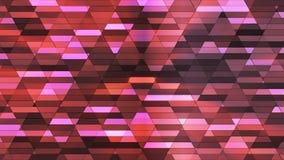 Annoncez le scintillement Diamond Hi-Tech Small Bars, rouge foncé, résumé, Loopable, 4K illustration libre de droits