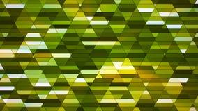 Annoncez le scintillement Diamond Hi-Tech Small Bars, vert, résumé, Loopable, 4K illustration stock