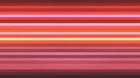 Annoncez les barres de pointe horizontales de scintillement, couleur multi, résumé, Loopable, 4K illustration de vecteur