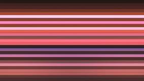 Annoncez les barres de pointe horizontales de scintillement, couleur multi, résumé, Loopable, 4K illustration libre de droits