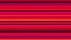 Annoncez les barres de pointe horizontales de scintillement, rouge, résumé, Loopable, 4K illustration stock