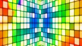 Annoncez les murs de pointe de cubes en scintillement, couleur multi, résumé, Loopable, 4K illustration libre de droits