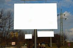 Annonsbilboard i en stad Royaltyfria Foton