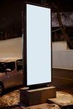 annonsen annonserar det klara stället för citylight royaltyfria foton