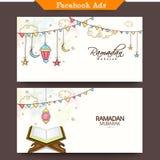 Annonser för massmedia för Ramadan Kareem beröm sociala Arkivfoton