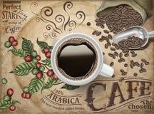 Annonser för svart kaffe vektor illustrationer