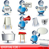 annonserande symboler 1 Fotografering för Bildbyråer