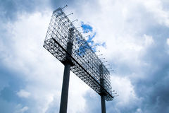 Annonserar den arga materialstrukturen för affischtavlan för baner och himmel arkivfoton