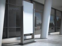 annonsering av den blanka panelen framförande 3d arkivbilder