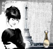 annonsering av france doft Arkivfoto