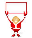 annonsering av julrektangelwhite Arkivbild