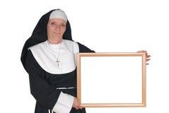 annonsering av nunnasystern fotografering för bildbyråer