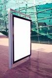 Annonsering av panelen på en gata Fotografering för Bildbyråer