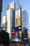 Annonsering av skärmar, New York Royaltyfria Bilder