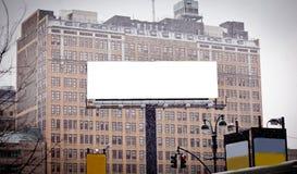 annonsering av stor blank konstruktion Arkivfoto