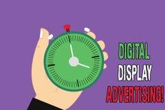 Annonsering för Digital skärm för handskrifttext Begreppsbetydelsen framför ett kommersiellt meddelande genom att använda diagram royaltyfri illustrationer