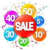 Annonsering för Sale händelse stock illustrationer