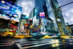 Annonsering på gatorna av Manhattan Arkivfoto