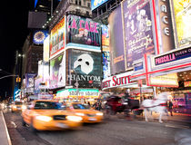 annonseringbroadway show arkivfoto