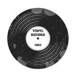 Annotazione di LP del vinile del grammofono Radio, rock-and-roll Suono di musica Retro musica del DJ Record di vinile Etichetta e Royalty Illustrazione gratis