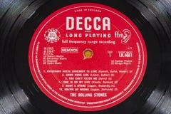 Annotazione di LP del vinile di Rolling Stones Immagine Stock