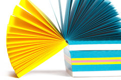 Annotazioni della carta colorata Immagini Stock