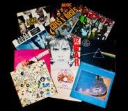 Annotazioni di vnyl di LP Fotografia Stock