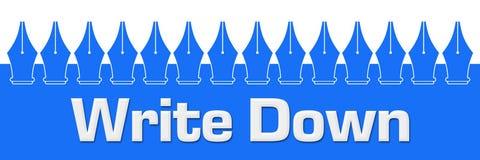 Annoti Pen Symbols On Top Blue Fotografia Stock Libera da Diritti