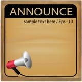 AnnounceVector illustration. Communication Royalty Free Stock Image