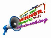 Announce winner Royalty Free Stock Photos