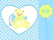 announcemen ankomsten behandla som ett barn björnpojkenalle Arkivfoton
