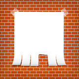 Announcement on a brick wall Royalty Free Stock Photos