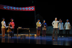 The announcement of the election statute- Jiangxi opera a steelyard. Jiangxi opera a steelyard is adapted from a true story: the last century fortys, the Royalty Free Stock Images