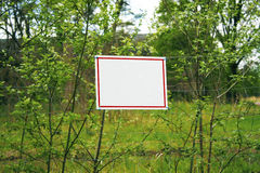 Announcement at the forest Stock Photo