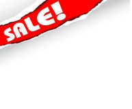 Announcement  of  items in sale  (red) Royalty Free Stock Photos