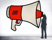 Announcement Megaphone Proclaim Message Illustration Concept Stock Photo