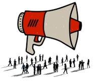 Announcement Megaphone Proclaim Message Illustration Concept Stock Photography