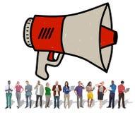 Announcement Megaphone Proclaim Message Illustration Concept Stock Image
