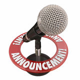 Announcement Microphone Public Address Speech Important News Ale Royalty Free Stock Photos