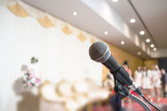 Announcement microphone Stock Photos