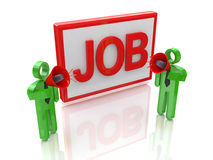 Announcement of new jobs. In the design of information related to the business and the people Stock Photography
