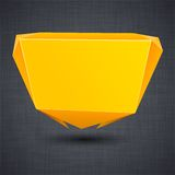 Announcement orange paper origami balloon. Royalty Free Stock Image
