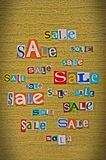 Announcement of sale Stock Image