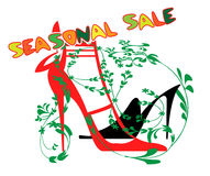 Announcement of sale of shoes Royalty Free Stock Image