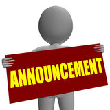 Announcement Sign Character Means Corporate Stock Image