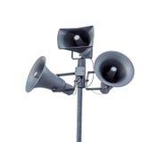 Announcement speakers Stock Photo