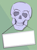 Announcement in a teeth of a skull Stock Image