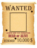 Announcement wanted criminal poster vector illustration Stock Images