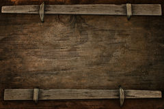 Announcement wood with free space Royalty Free Stock Image