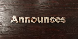 Announces - grungy wooden headline on Maple  - 3D rendered royalty free stock image Stock Photography